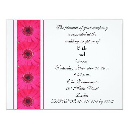 Wedding Reception Only Invitations: Daisy Marriage Reception Only Wedding Invitation