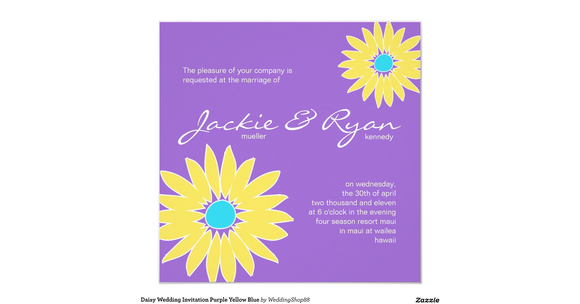 Purple And Blue Wedding Invitations: Daisy_wedding_invitation_purple_yellow_blue