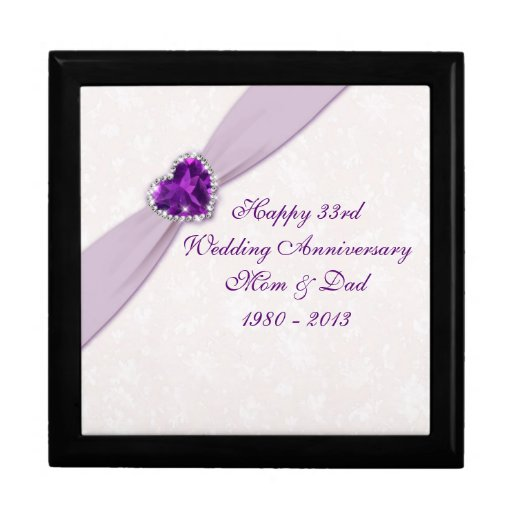 33rd Wedding Anniversary Gift