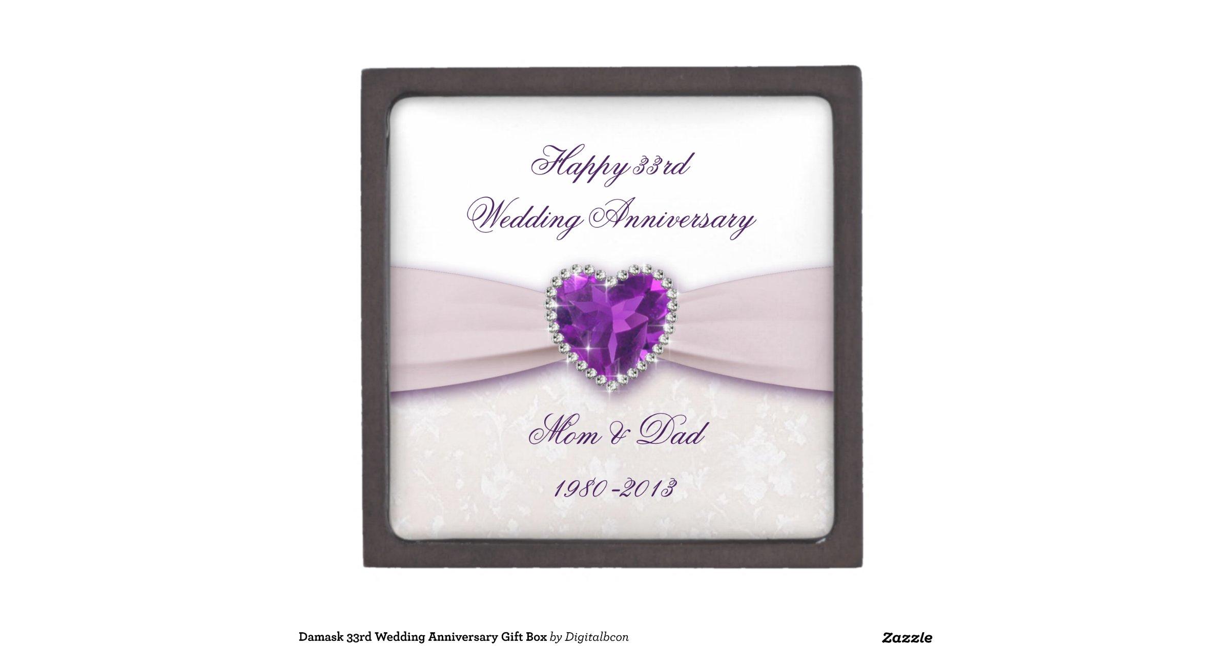 33rd Wedding Anniversary Gifts