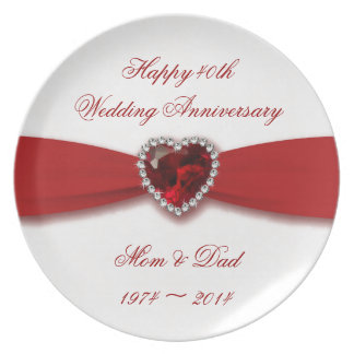 40th Wedding Anniversary Gifts Zazzle