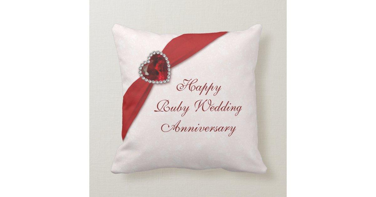 50th Wedding Anniversary Gift Pillows: Damask 40th Wedding Anniversary Throw Pillow