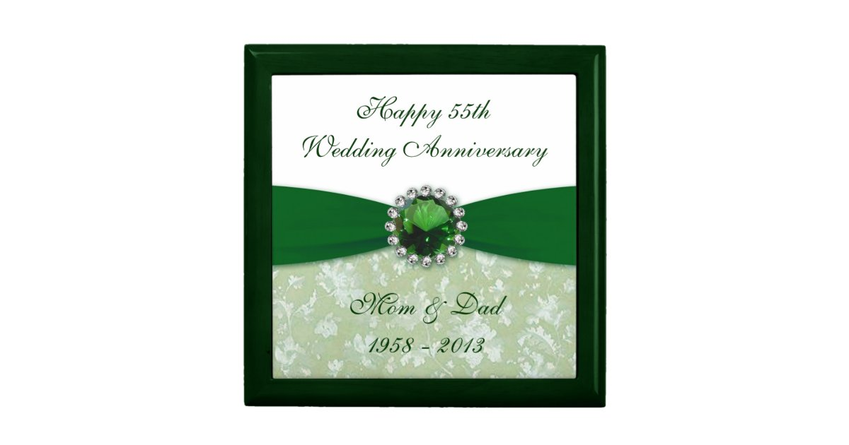 6 Wedding Anniversary Gift: Damask 55th Wedding Anniversary Gift Box