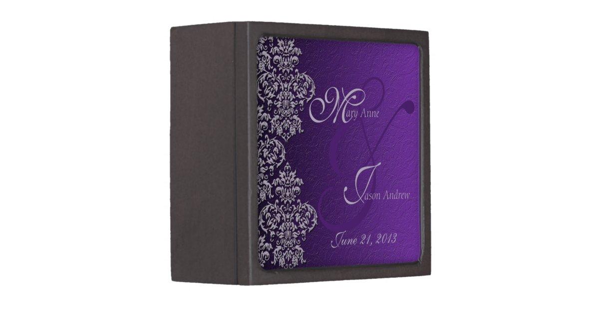 Royal Wedding Gifts: Damask Royal Purple Wedding Gift Box