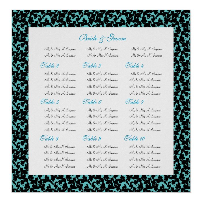 Wedding Seating Chart Template Make Your Own Print