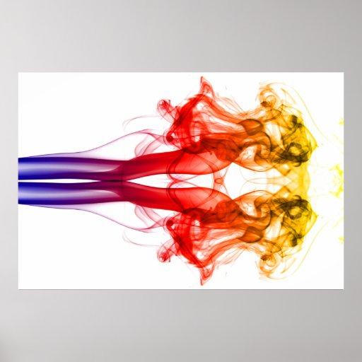 Dance of color - Smoke Poster | Zazzle