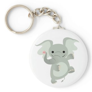 Dancing Cartoon Elephant Keychain keychain