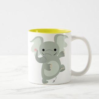 Dancing Cartoon Elephant Mug mug