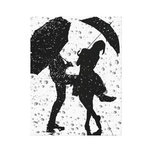 Dancing in the rain gallery wrap canvas | Zazzle