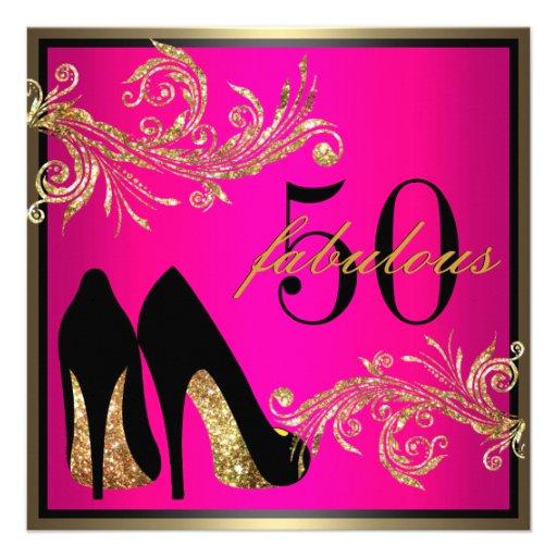 Fab 50 Birthday: Dancing Shoes - Fabulous 50th Birthday Invitation