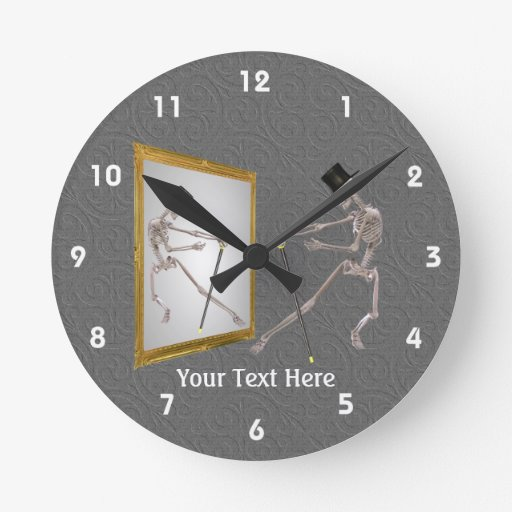 Dancing Skeleton With Top Hat And Cane Wall Clocks Zazzle