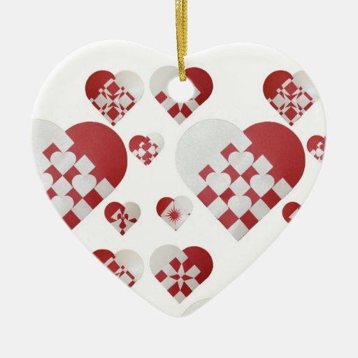 Danish Christmas Trees: Danish Christmas Hearts Ornaments