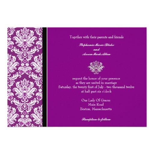 Dark Purple Wedding Invitations