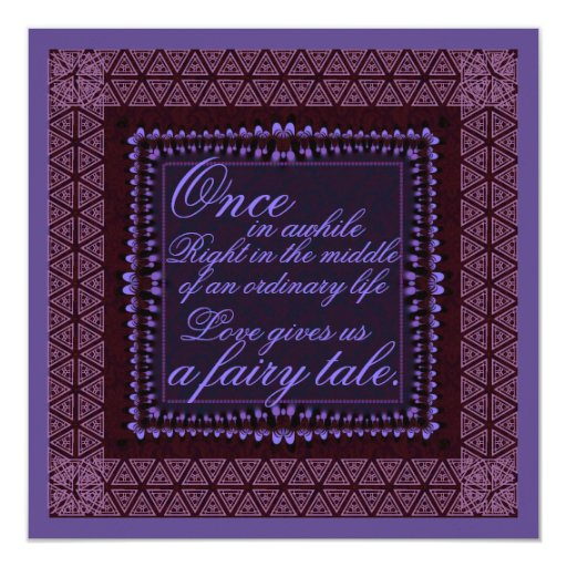 Dark Purple Wedding Invitations: Dark Purple Romance Wedding Invitation
