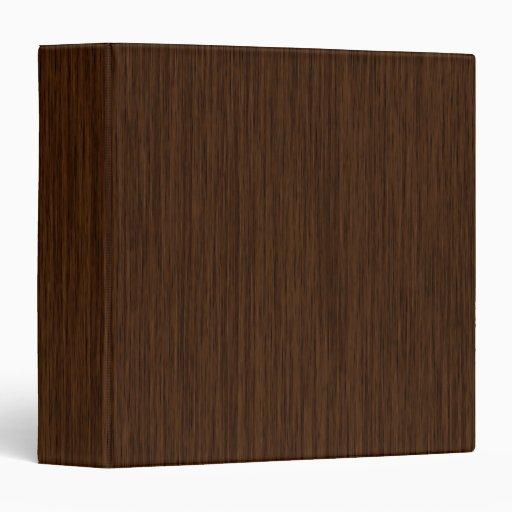 Dark Rustic Grainy Wood Background 3 Ring Binder