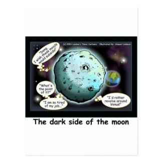 Dark Side Of The Moon Funny Cartoon Gifts Postcards