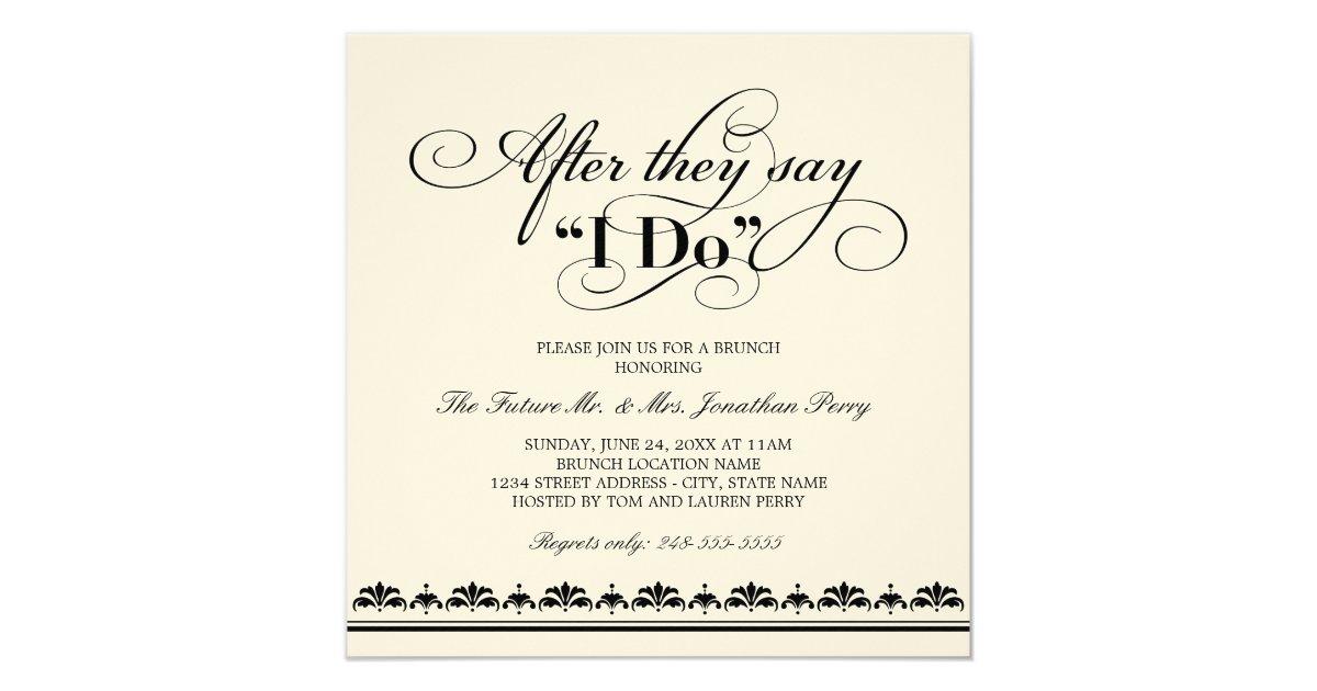 After Wedding Invitation Wording