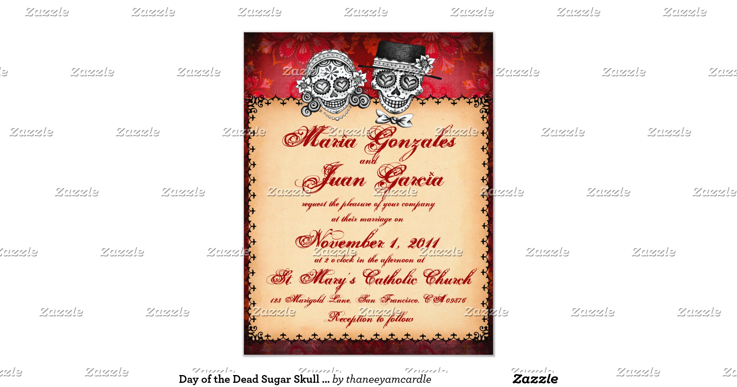Day Of The Dead Wedding Invitations: Day_of_the_dead_sugar_skull_wedding_invitations