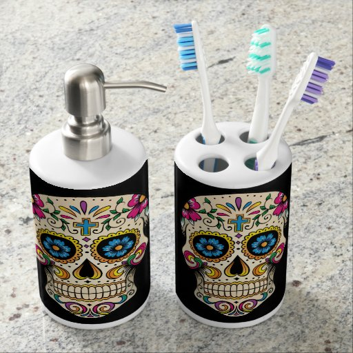 Day Of The Dead Bathroom Set