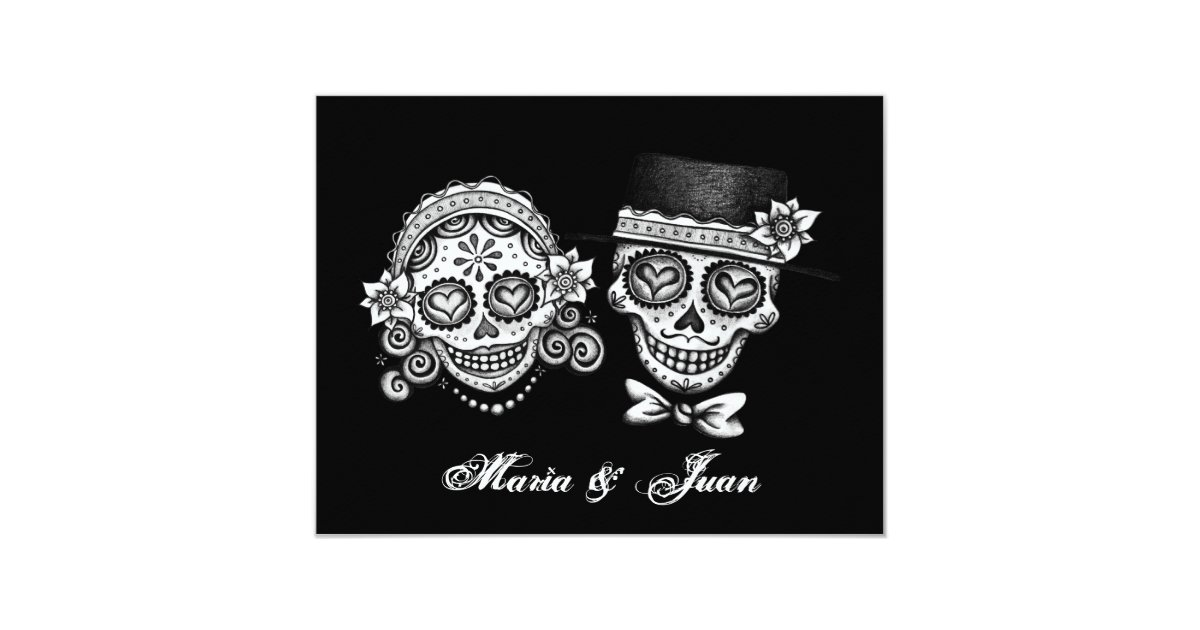 Day Of The Dead Wedding Invitations: Day Of The Dead Wedding Invitations