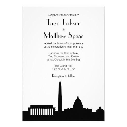Personalized Skyline Wedding Invitations