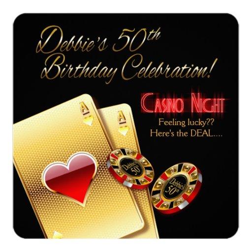 Casino Themed Birthday Cards