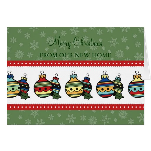 Decorations New Address Christmas Card
