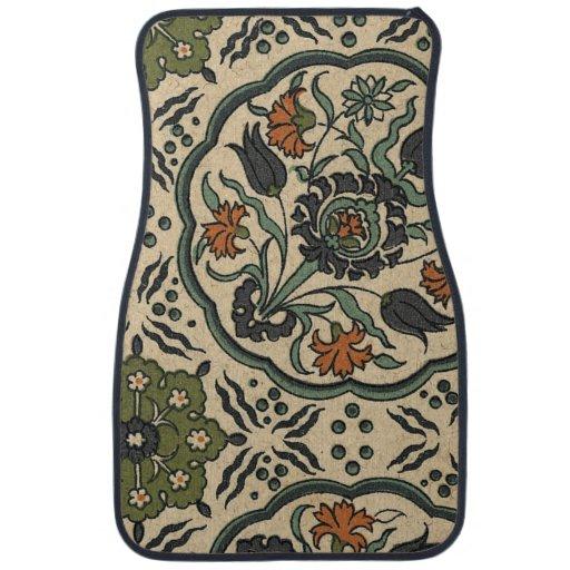 Decorative Floral Persian Tile Design Car Mat Zazzle
