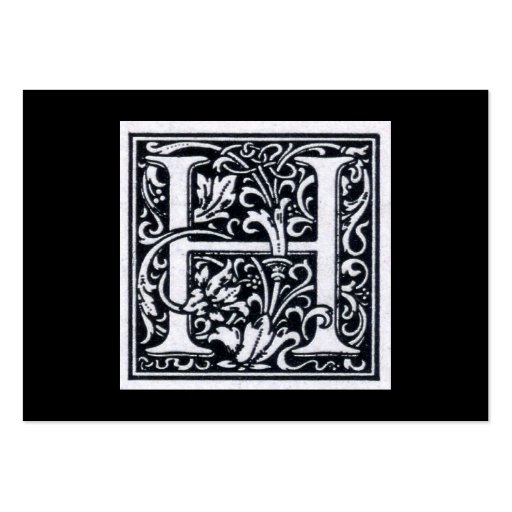"Decorative Letter ""H"" Woodcut Woodblock Inital Large ..."