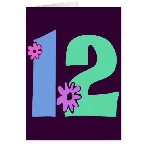 Decorative Number 12 Greeting Card