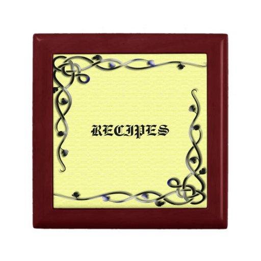 Decorative Recipe Box 2: Decorative Recipe Gift Box With Black And Yellow