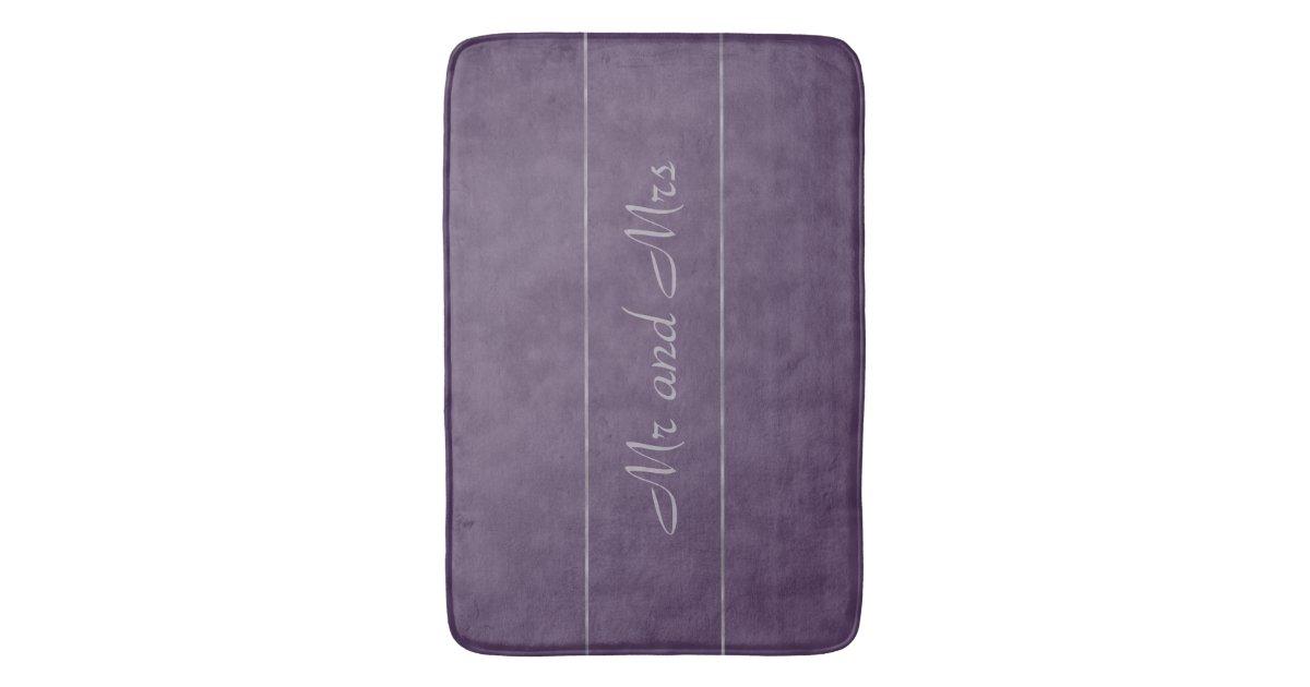 Deep Purple Lavender Gray Stripe Bath Mat Zazzle