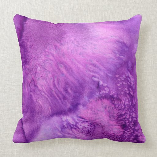 Deep Purple Watercolor Painted Wine Plum Throw Pillow Zazzle