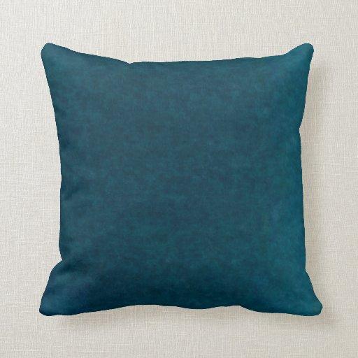 Deep Sea Watercolor Dark Teal Blue And Aqua Throw Pillow