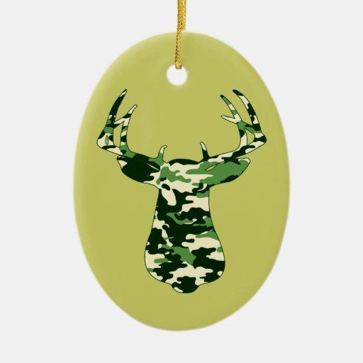 Deer Hunting Camo Buck Christmas Tree Ornaments | Zazzle
