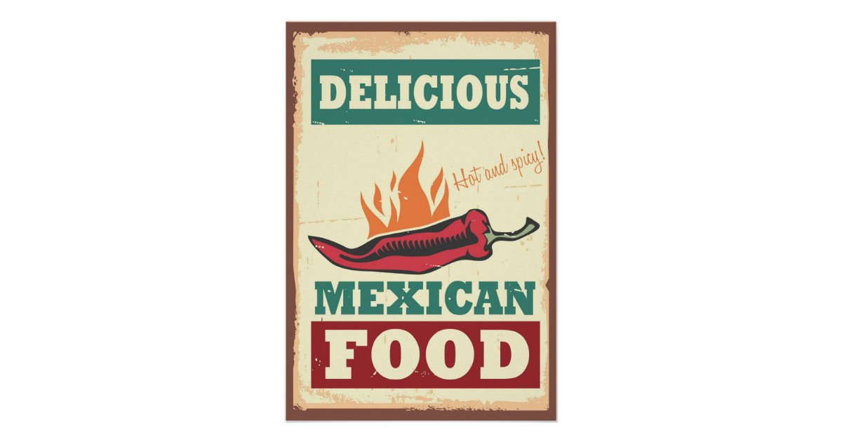 Delicious Mexican Food Poster | Zazzle