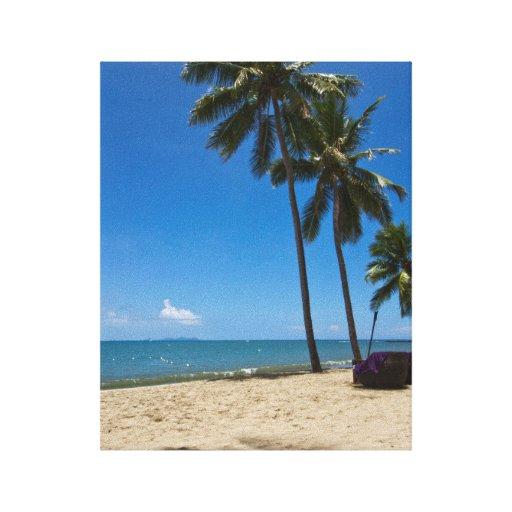 Fiji Beaches: Denarau Island Beach, Fiji Canvas Print