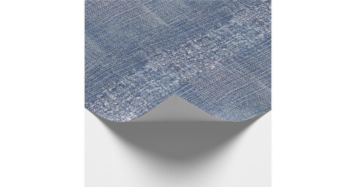 Denim Blue Jeans Print Wrapping Paper Zazzle