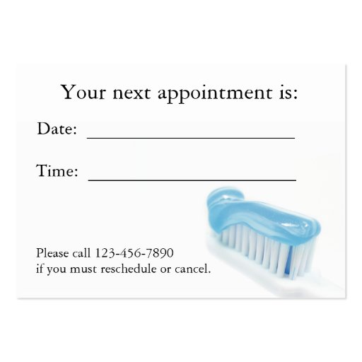 dental gift certificate template - dental appointment card business card template zazzle