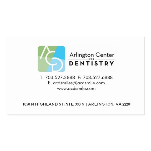 dental gift certificate template - dental card double sided standard business cards pack of