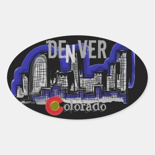 Denver News A Line: Denver Colorado Skyline Stickers