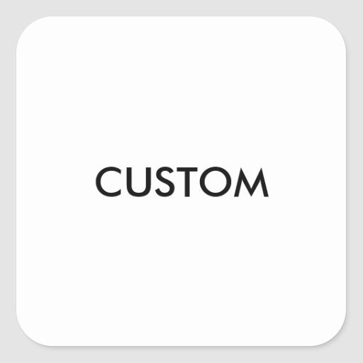 design custom template blank square sticker zazzle. Black Bedroom Furniture Sets. Home Design Ideas