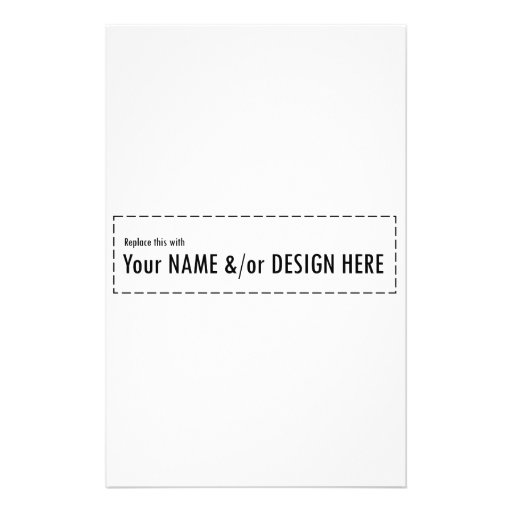 Design Your Own Swag Contest Ends Today: Design Your Own Custom Personalize Name Design Stationery