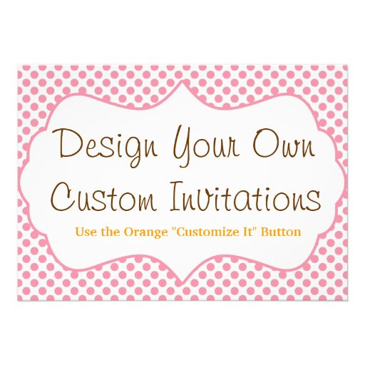 """Design Your Own Custom Personalized Invitations 5"""" X 7"""