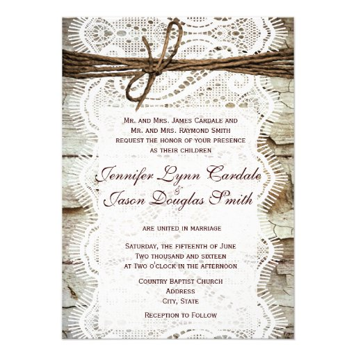 """Design Your Own Rustic Country Wedding Invitations 4.5"""" X"""