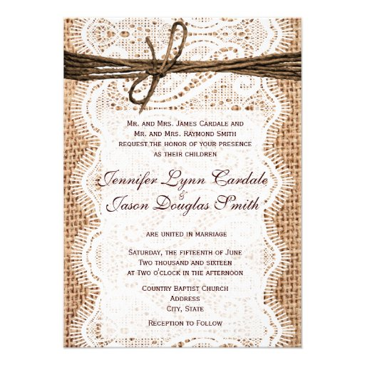 """Design Your Own Wedding Invite: Design Your Own Rustic Country Wedding Invitations 4.5"""" X"""