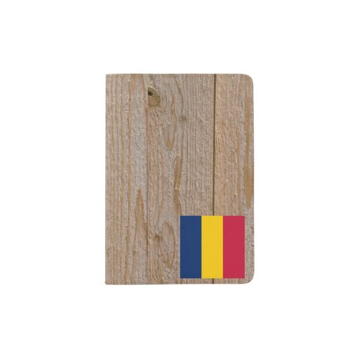 Designer Chad Flag Box Passport HolderDesigner Passport Holder