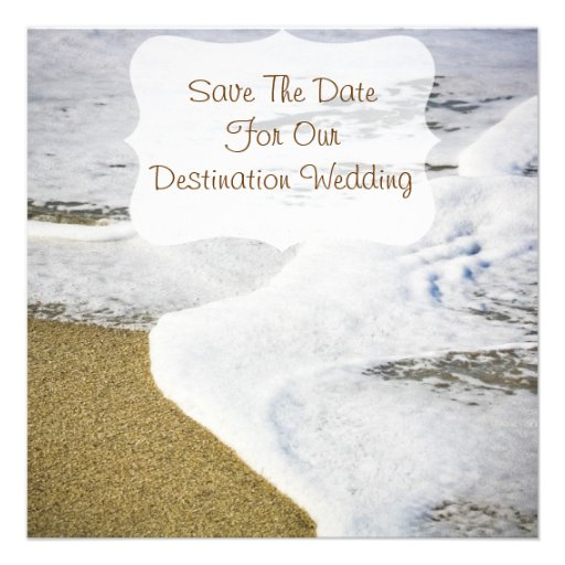 Save The Date Destination Wedding Invitations: Destination/Beach Wedding-save The Date Invitations