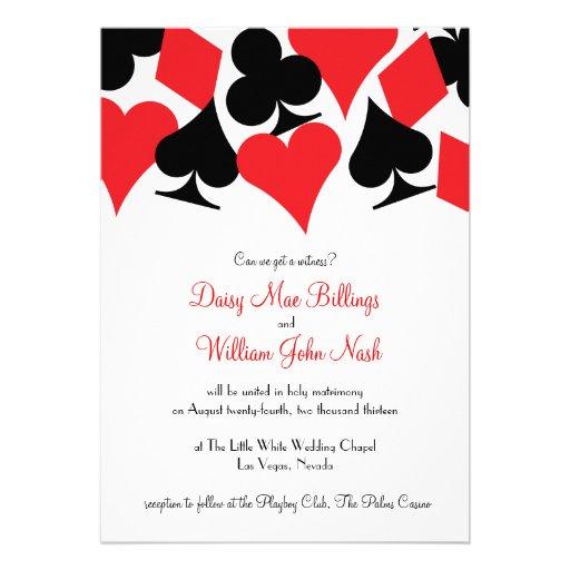 Las Vegas Wedding Invitation Wording: Destiny Las Vegas Wedding Invitation