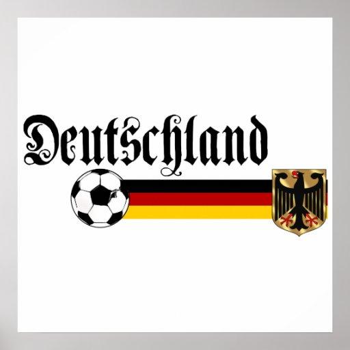 deutschland large fussball logo poster  zazzle
